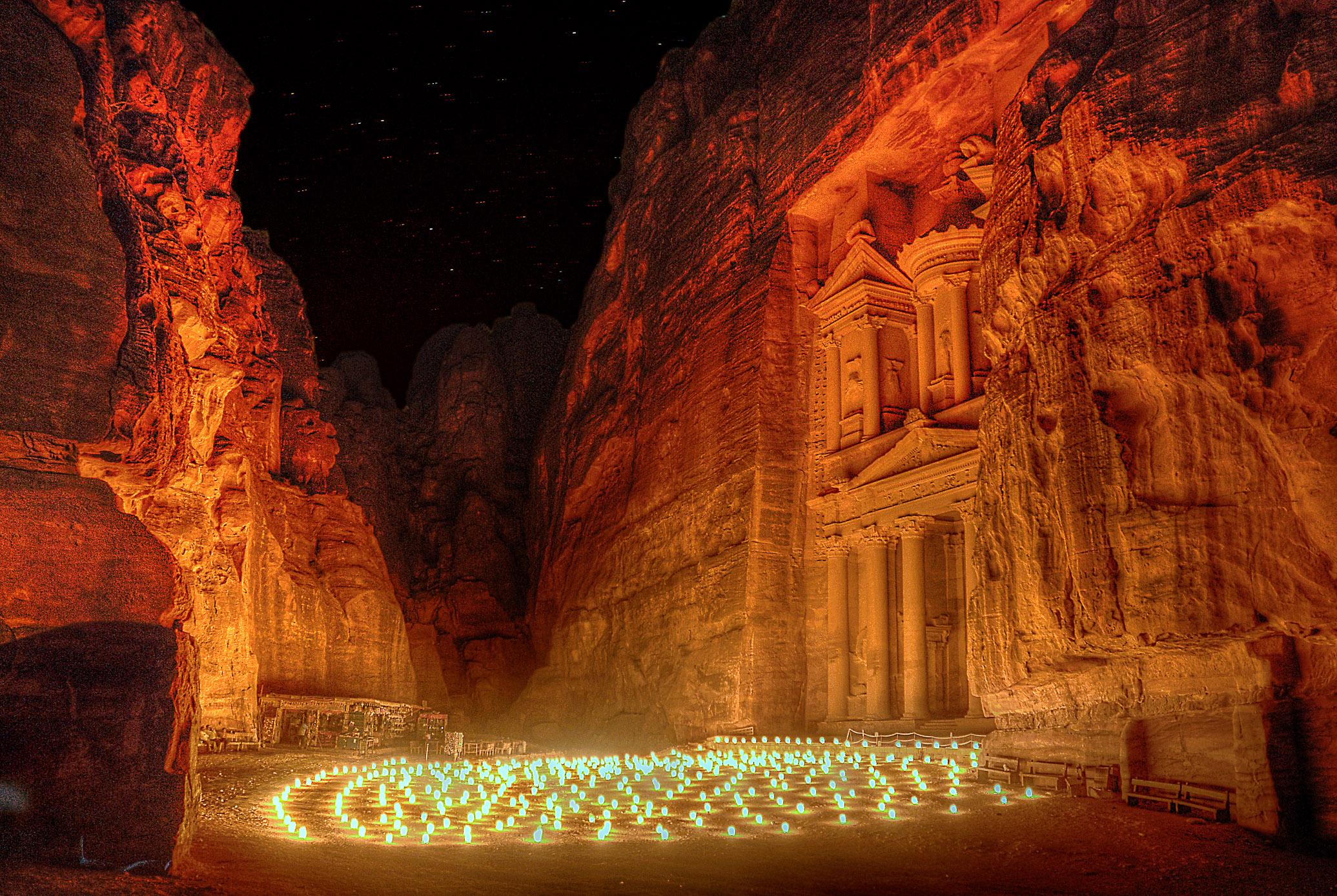 Free Landscape Wallpaper Hd File Petra By Night Jordan Jpg Wikimedia Commons