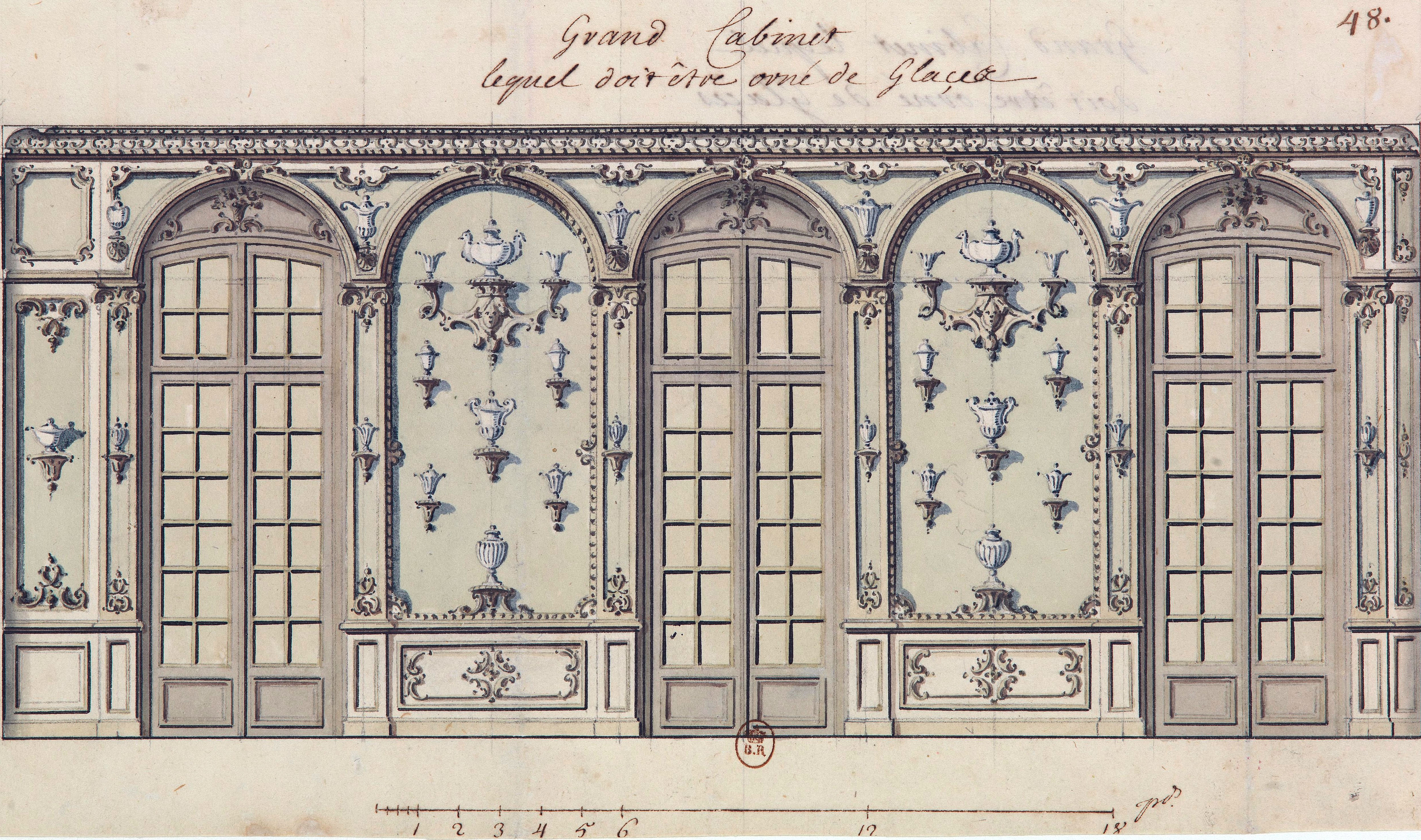 Tattoo Bonn File Design For The Grand Cabinet With Decorated Mirrors