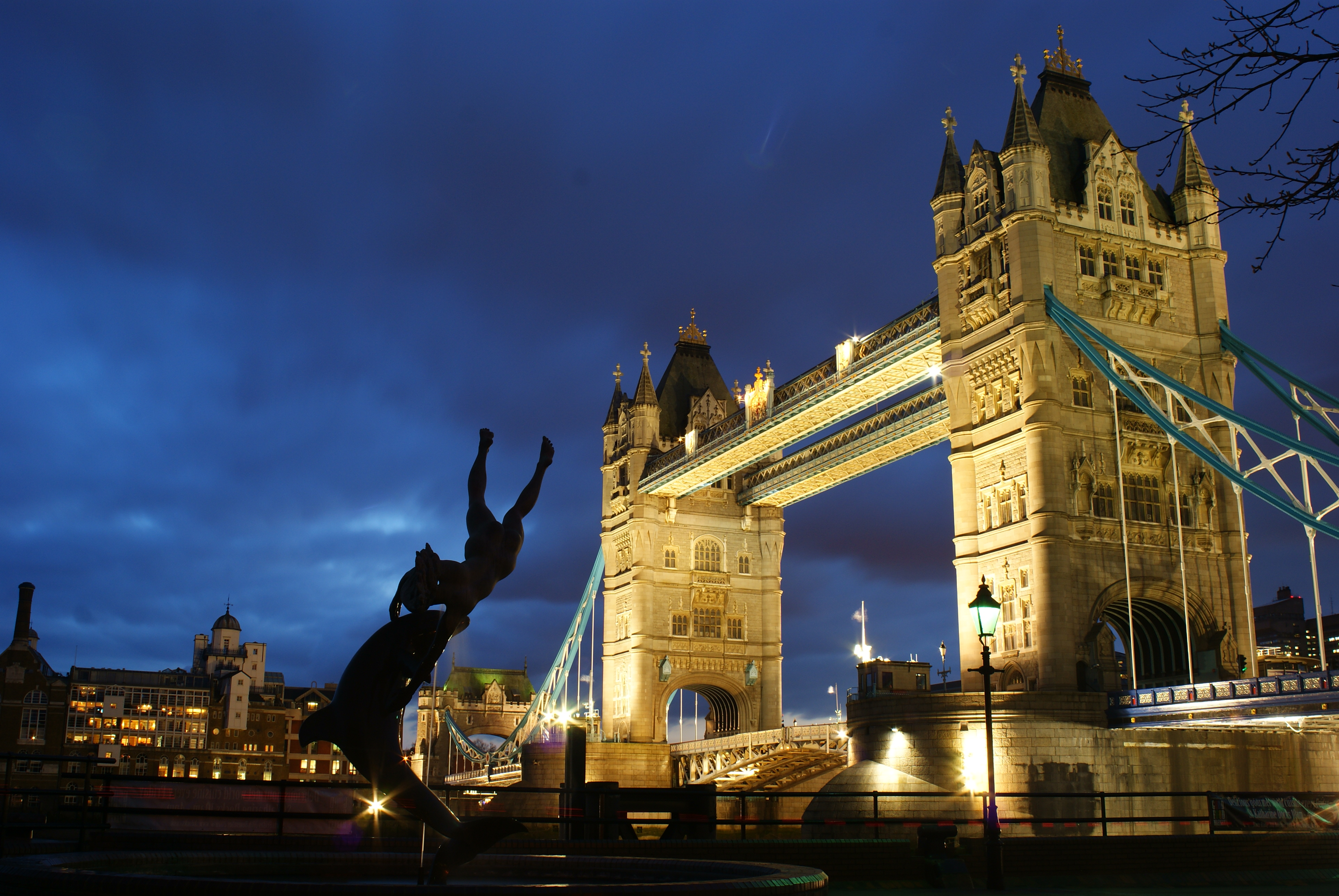 Earth Desktop Wallpaper Hd File Girl With A Dolphin Tower Bridge London Geograph