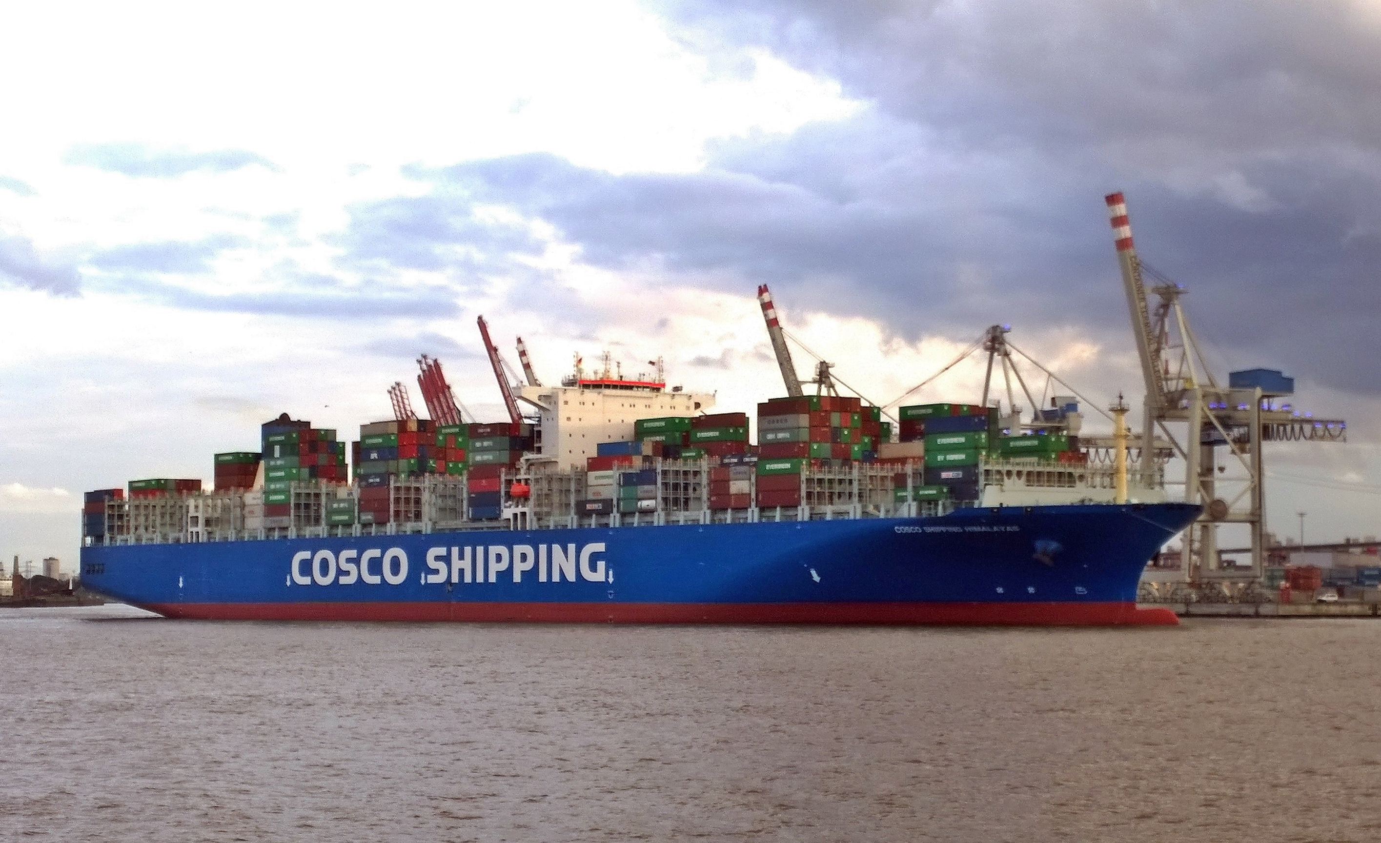 Himalaya Hamburg Datei The New Container Ship Cosco Shipping Himalayas In