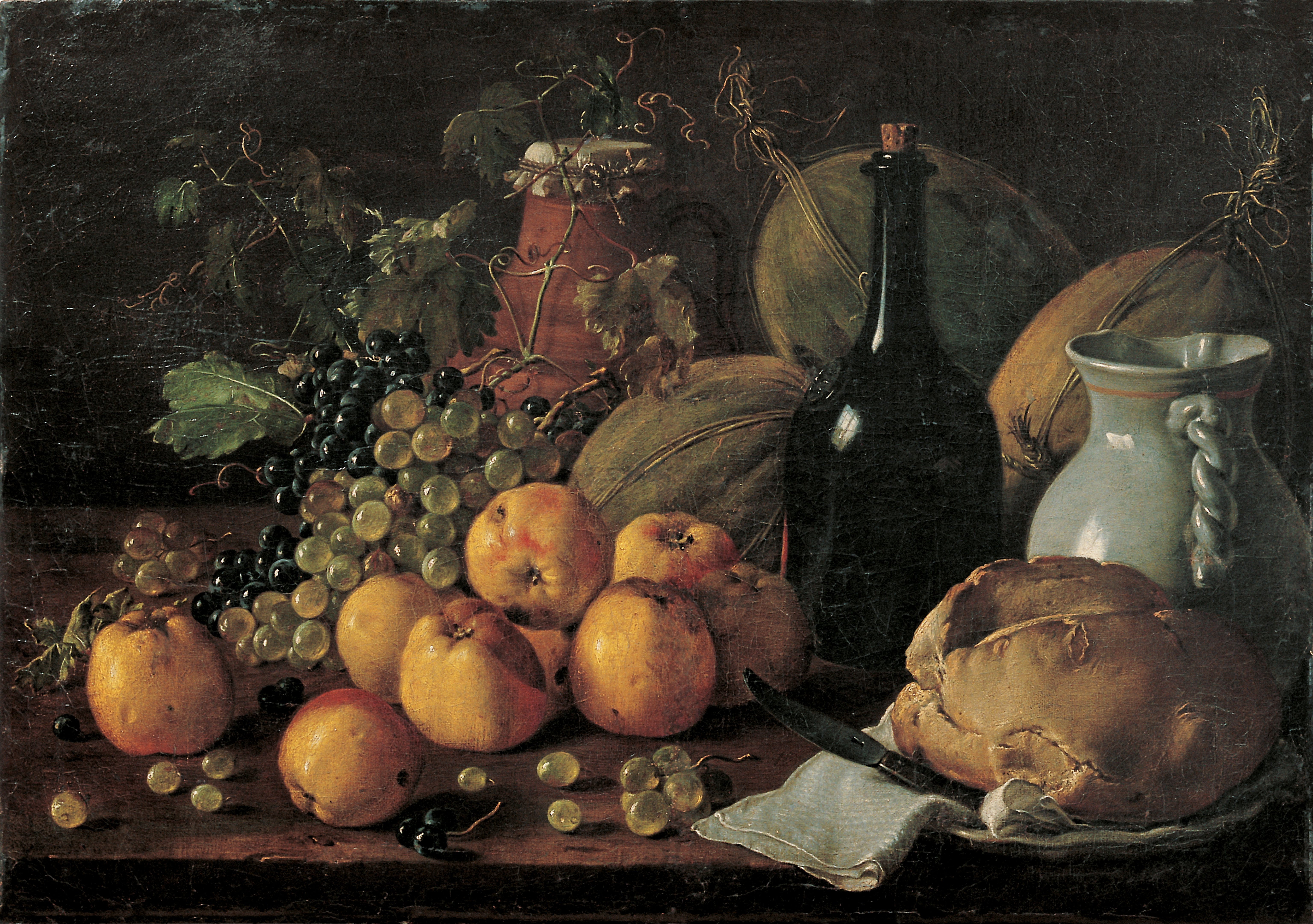 Cuadros Flamencos File:luis Meléndez - Still Life With Apples, Grapes