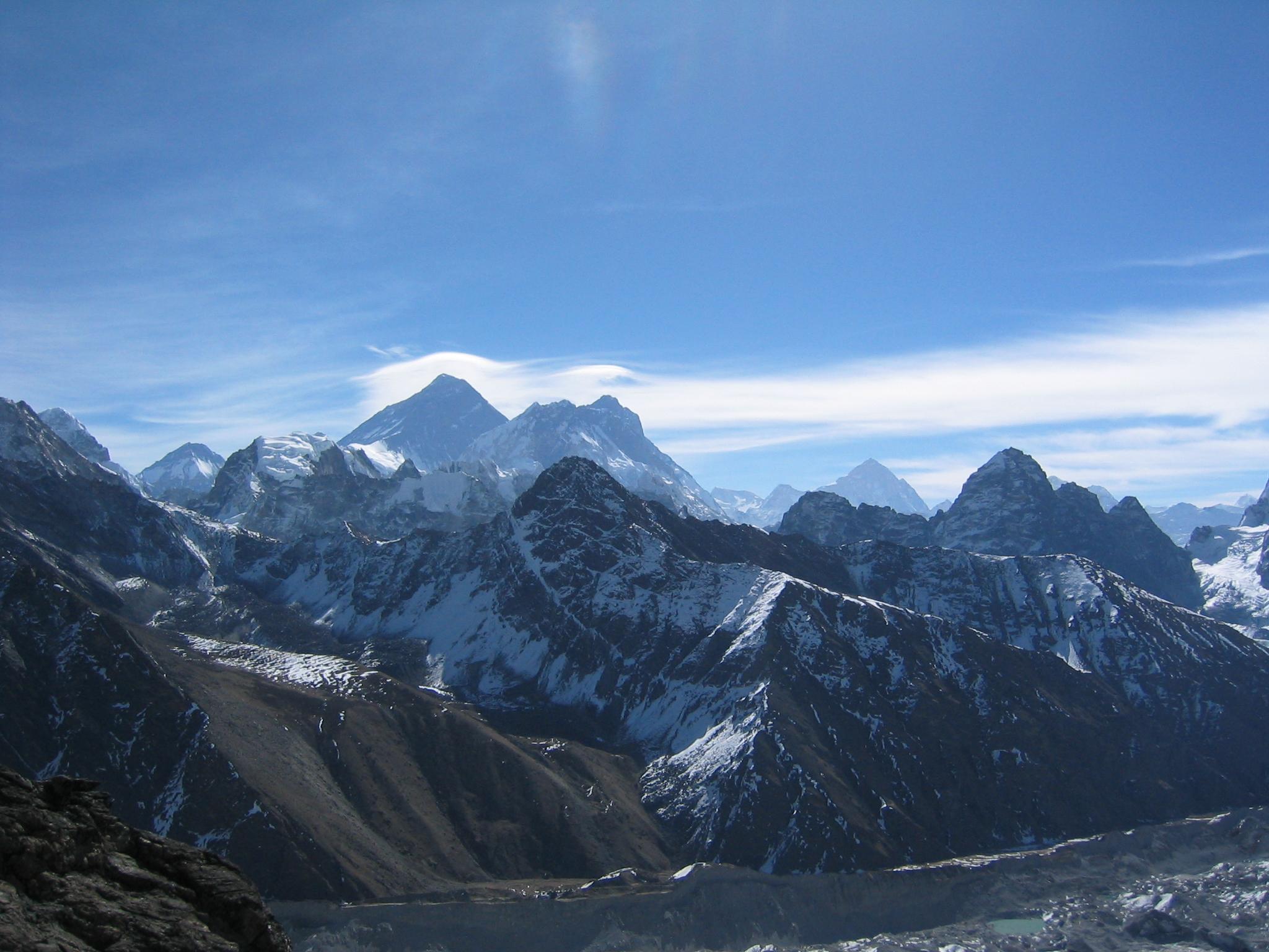 Himalaya Hd Wallpaper File Everest Lhotse And Makalu From Gokyo Ri Jpg