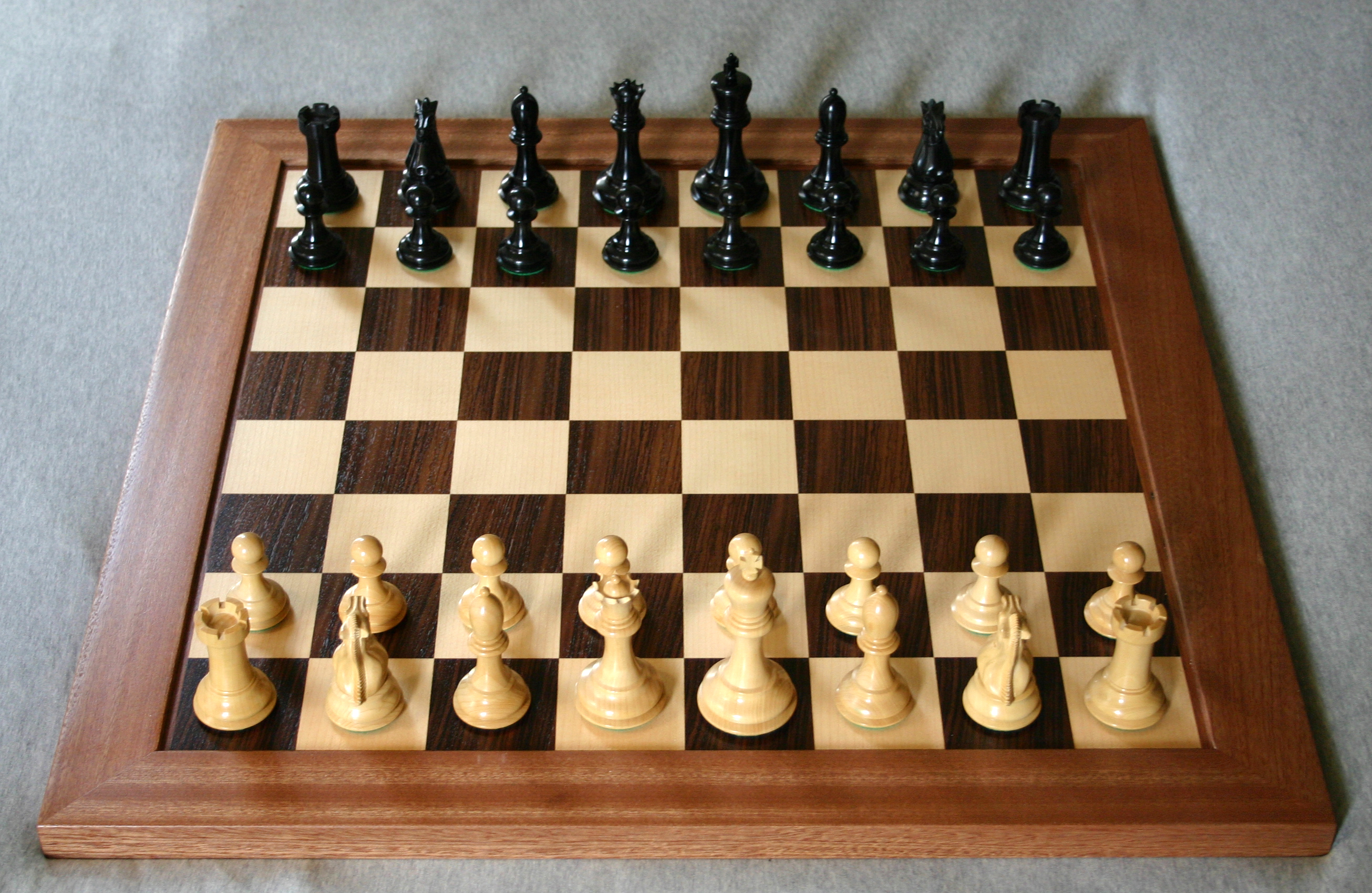 Chest Game Set File Chess Board Opening Staunton Jpg Wikipedia