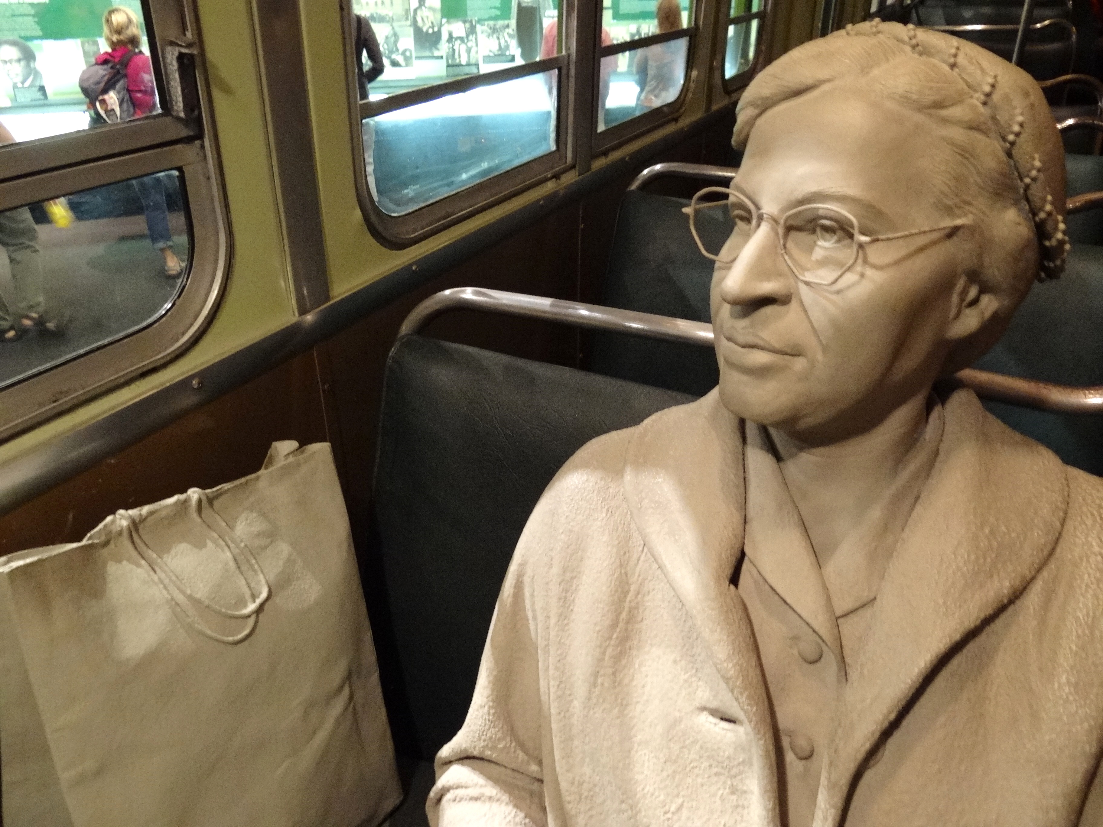 In Rosa File Diorama Of Rosa Parks In Her Bus Seat National Civil Rights