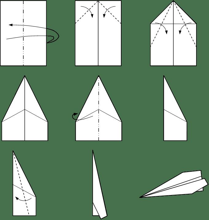 pics photos paper airplane diagram