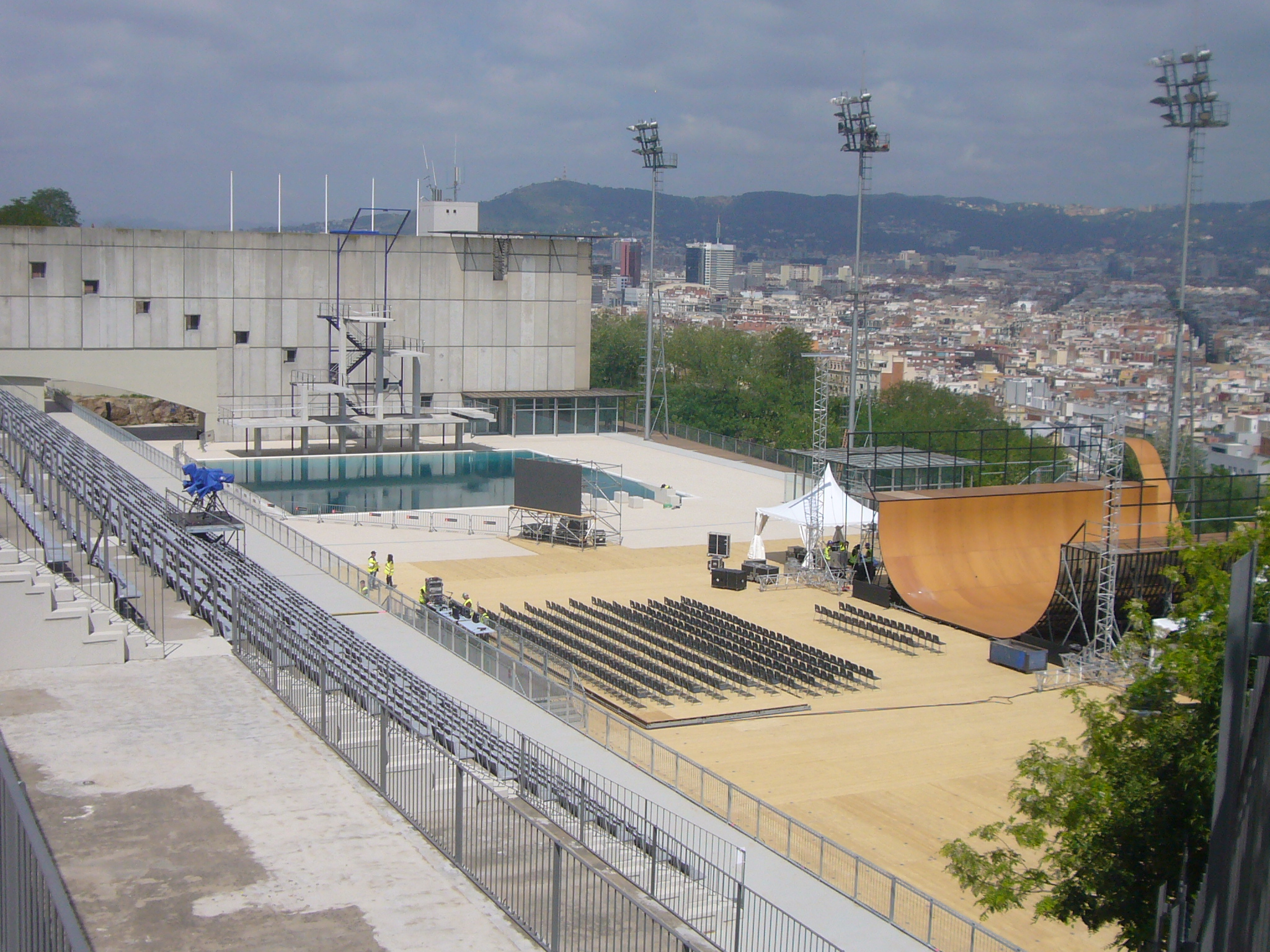 Piscina Municipal Montjuic File Piscina Municipal De Montjuïc Ready For The X Games