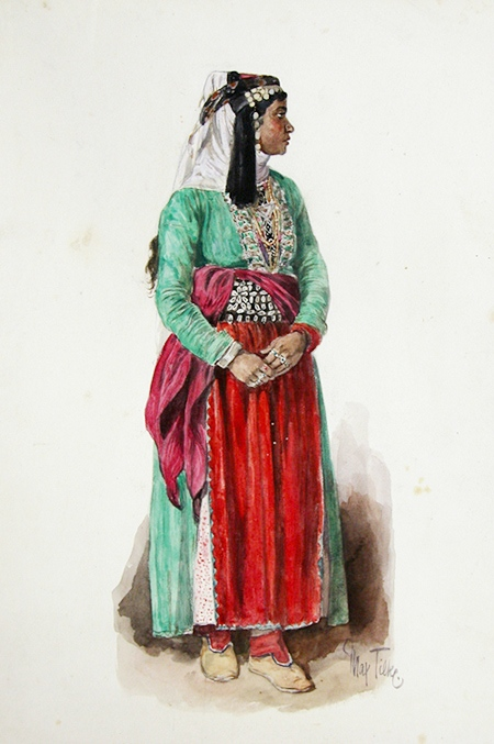 Patchwork Ideen Yazidi Woman In Traditional Clothes, 1920. National Museum