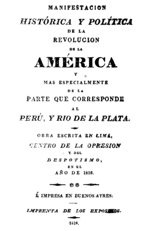 ArchivoPortada de la Manifestación histórica y política de la