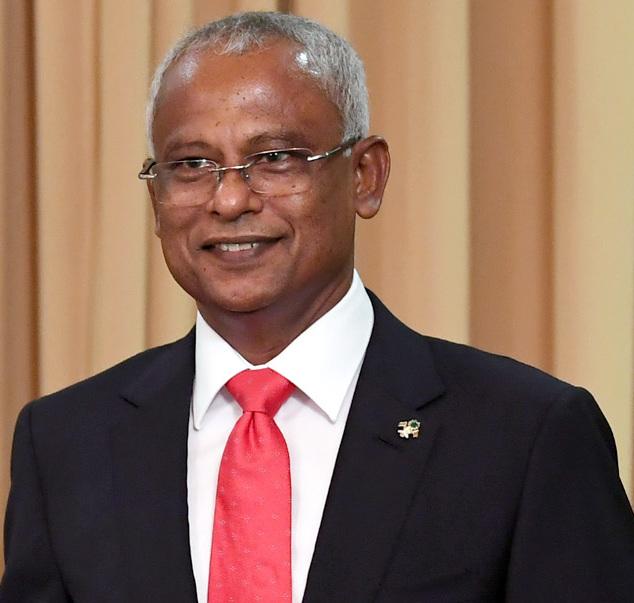 Image result for Maldivian President Ibrahim Mohammed 'Ibu' Solih