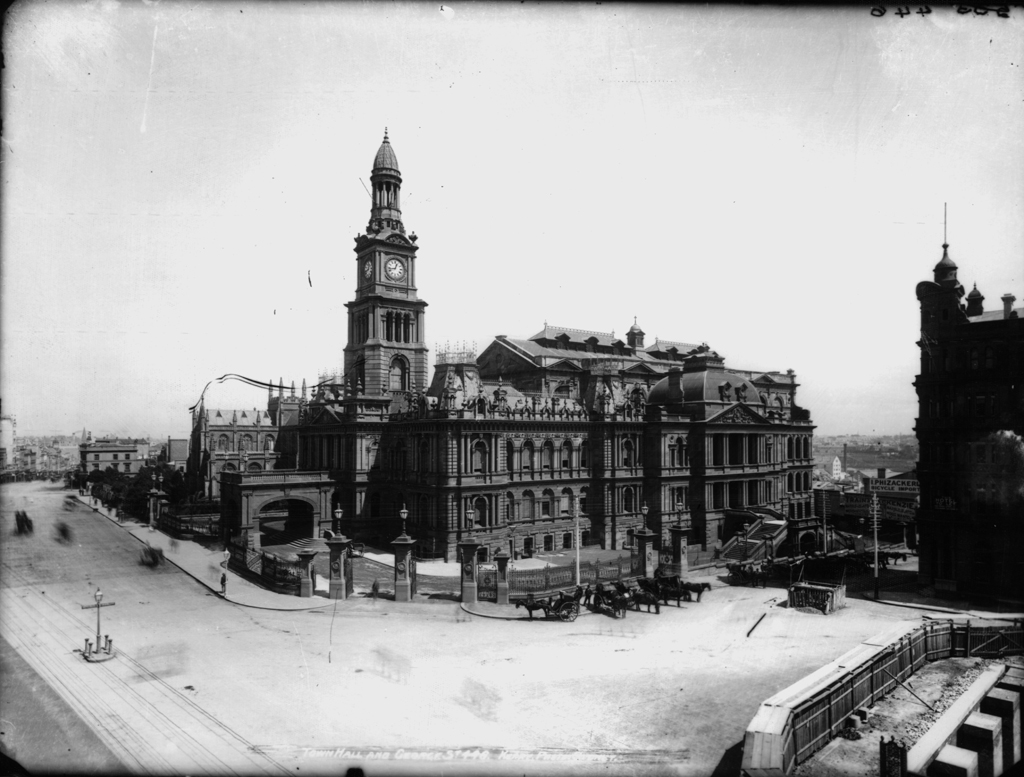 Google Wallpaper Hd File Town Hall And George St Sydney C 1900 Jpg