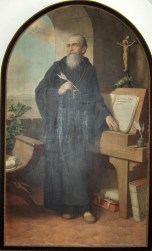 A painting of St. Benedict.