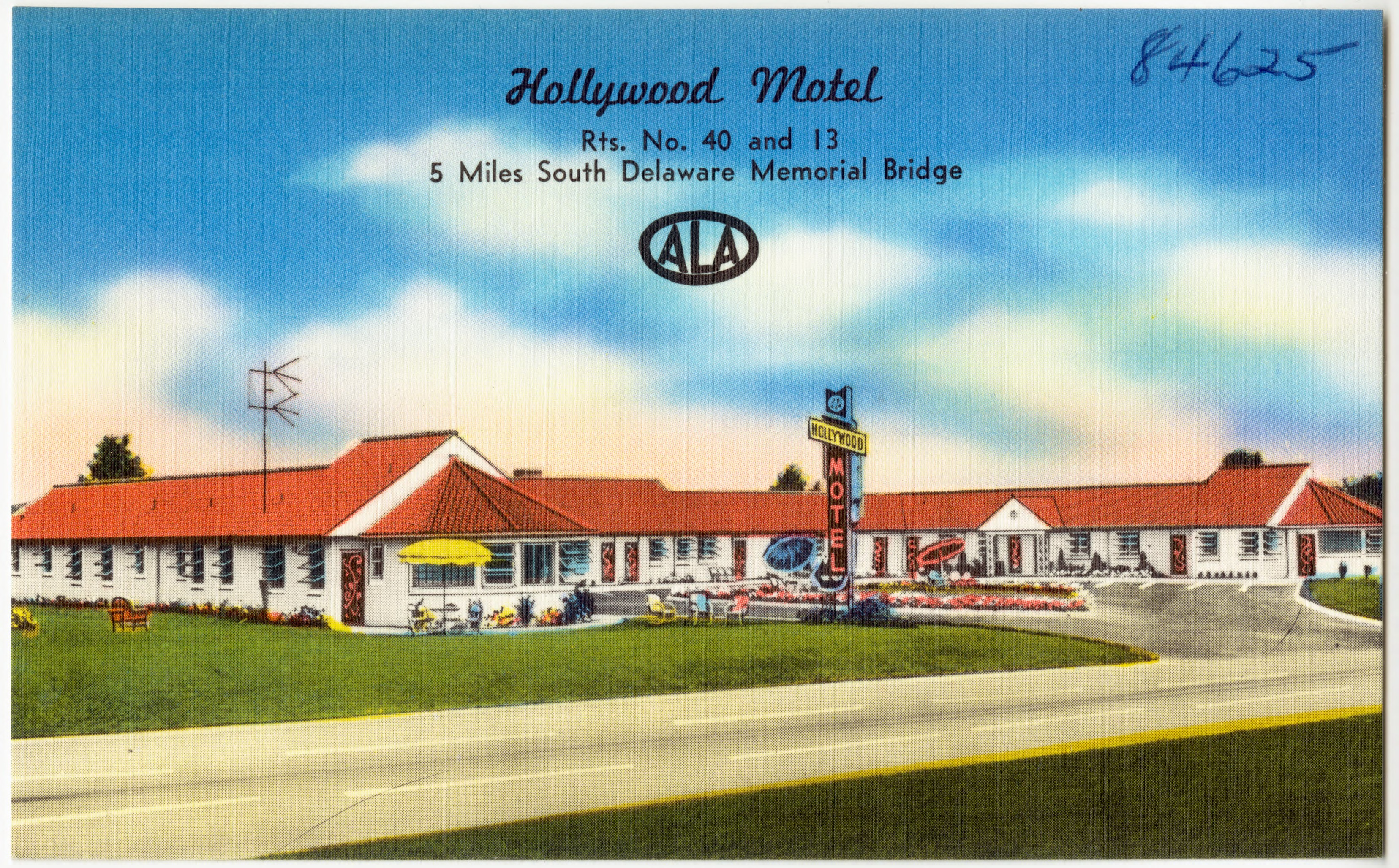Hollywood Motel File Hollywood Motel Rts No 40 And 13 5 Miles South Delaware