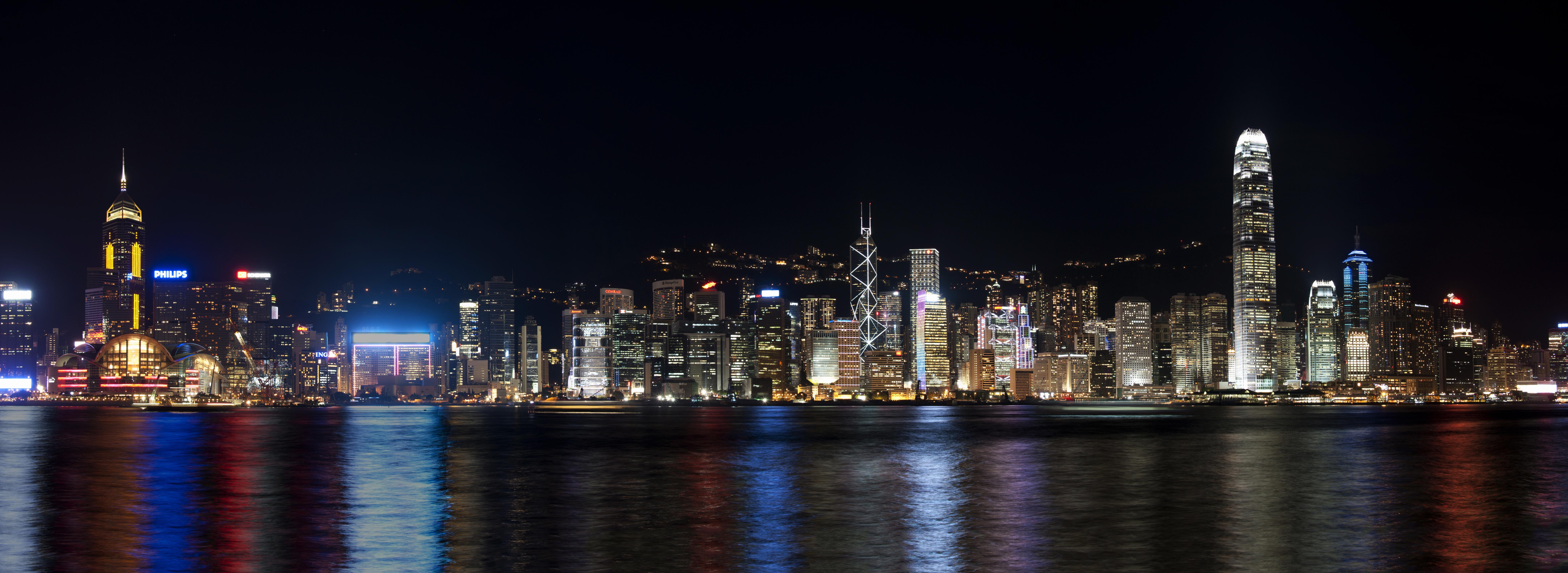 3d River Wallpaper File 1 Hong Kong Night Panorama Harbour View 2011 Jpg