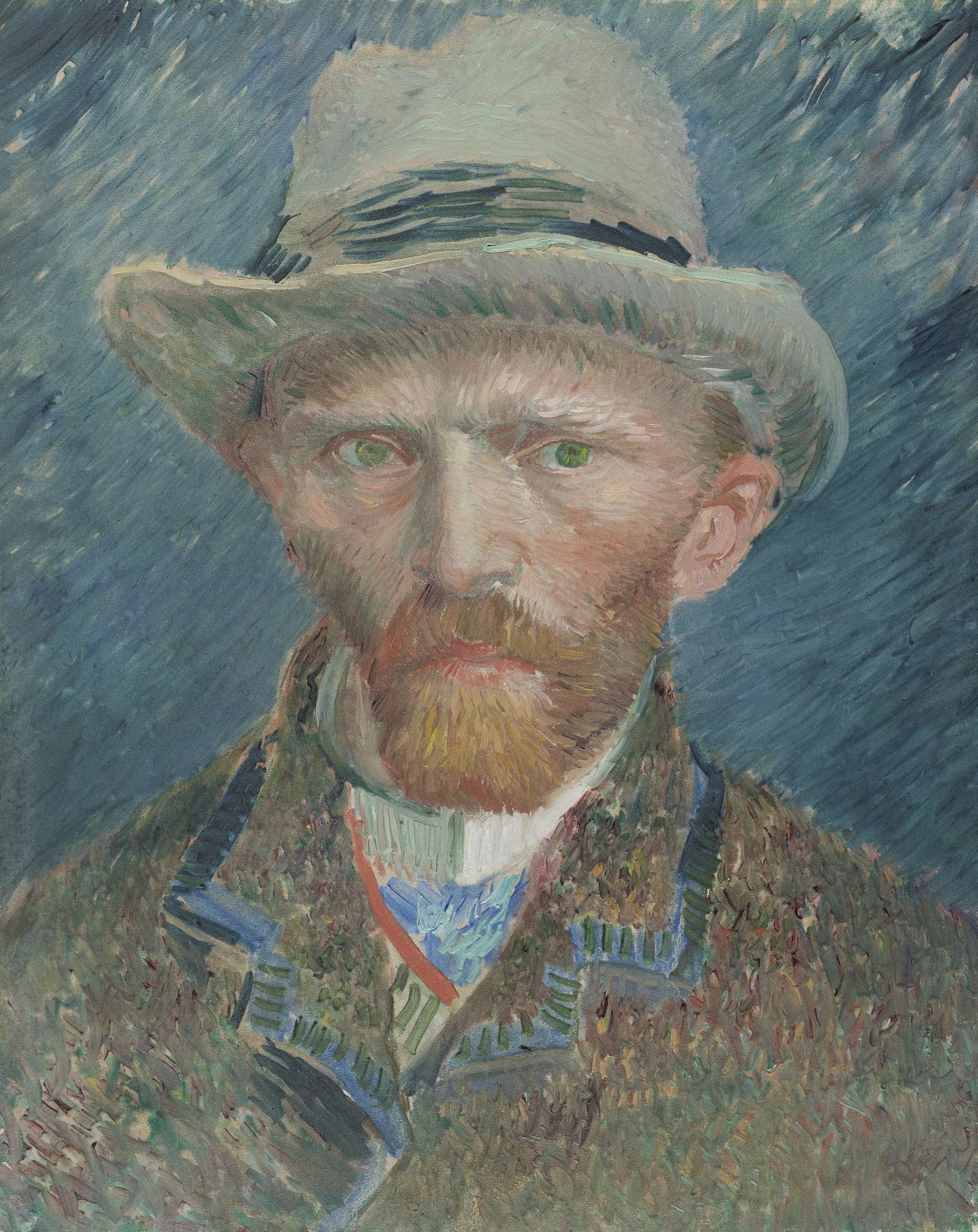 Rijksmuseum Grijs File Van Gogh Self Portrait With Grey Felt Hat 1886 87