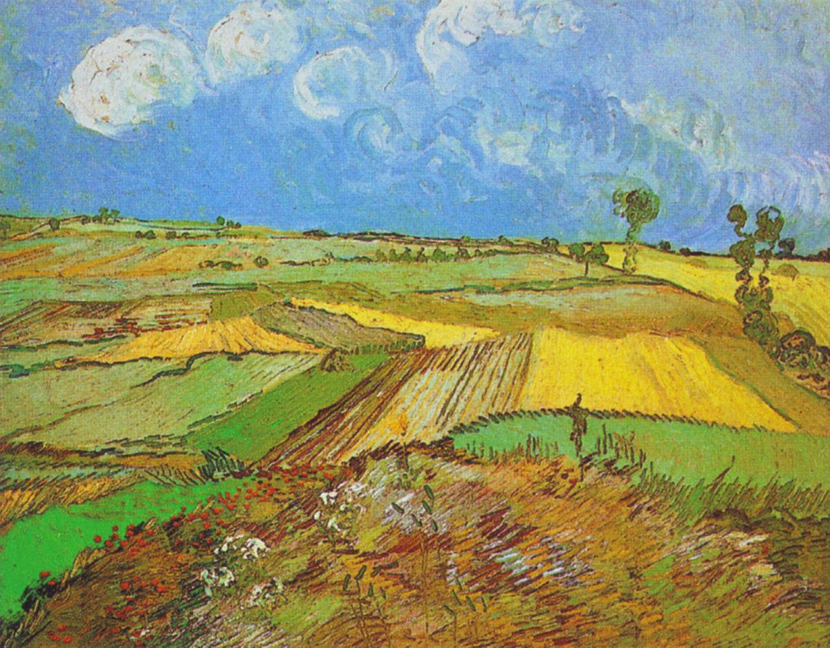 Lavender Color Wallpaper Hd File Vincent Van Gogh Wheat Fields After The Rain 1890