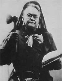 Carrie Nation, a standard feminist
