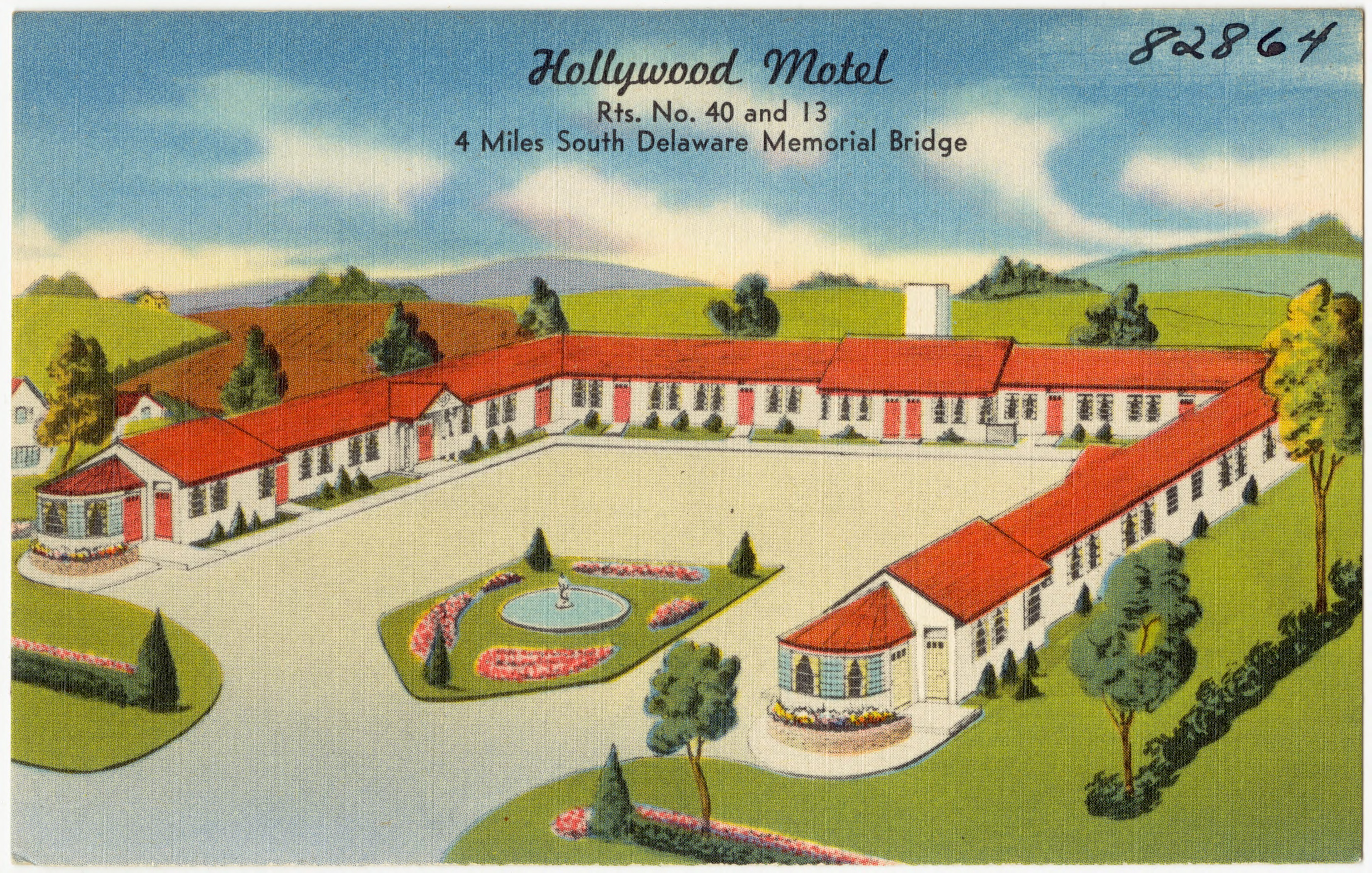 Hollywood Motel File Hollywood Motel Rts No 40 And 13 4 Miles South Delaware