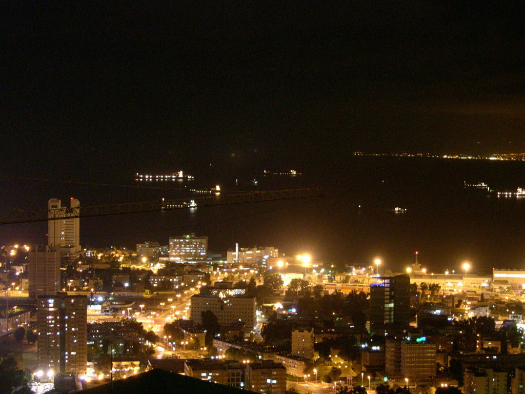 Black Desert Hd Wallpaper File Downtown Haifa Israel At Night Jpg Wikimedia Commons