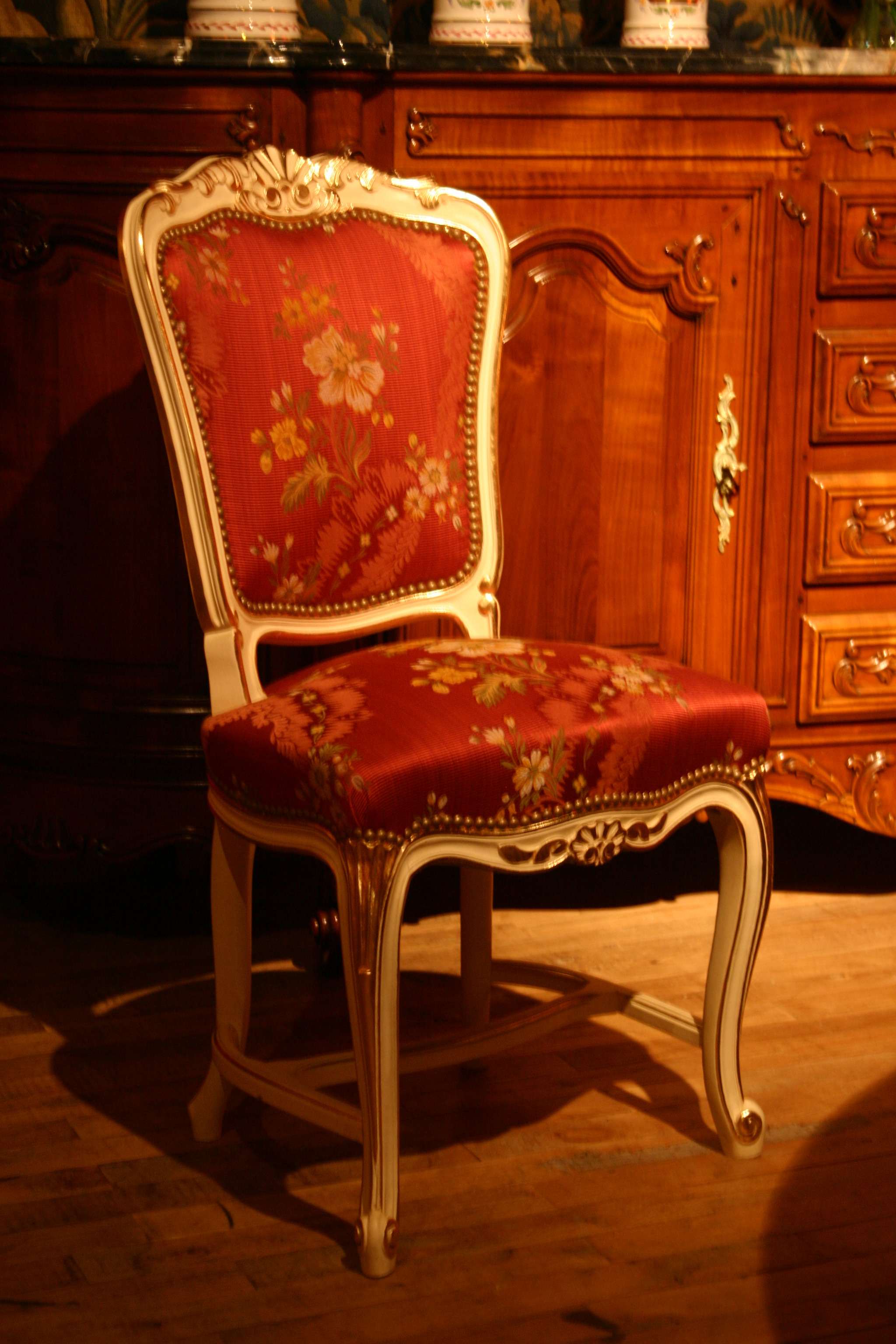 Chaise Style File N354 Chaise à Entretoise