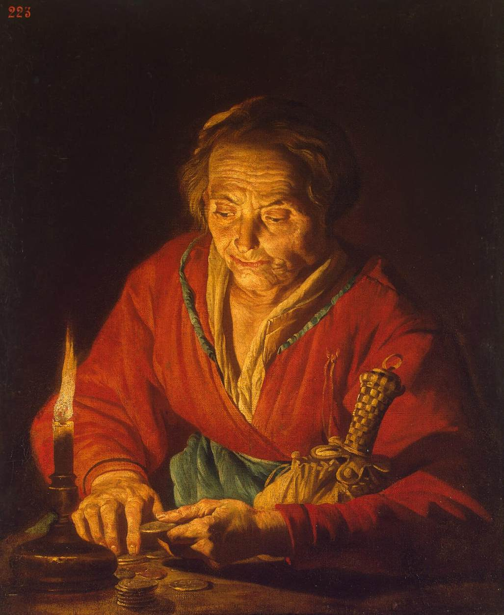 Candle Light Painting File Matthias Stom Old Woman With A Candle Wga21809 Jpg