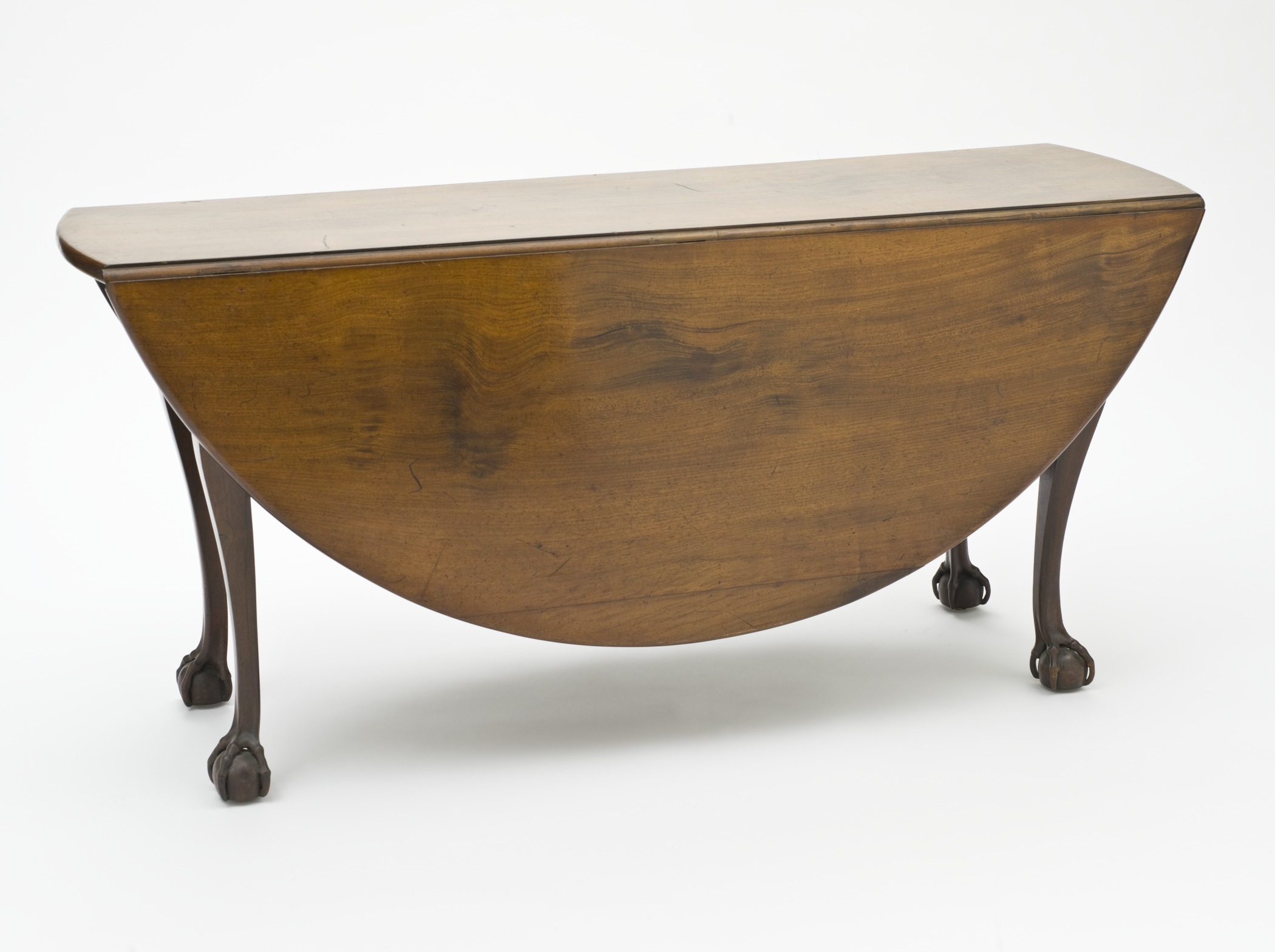 Oval Drop Leaf Dining Table with Ball and Claw Feet LACMA M.2006.51.9