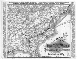 map of the seaboard air line system in 1896 logos used 1900 and 1916 ...