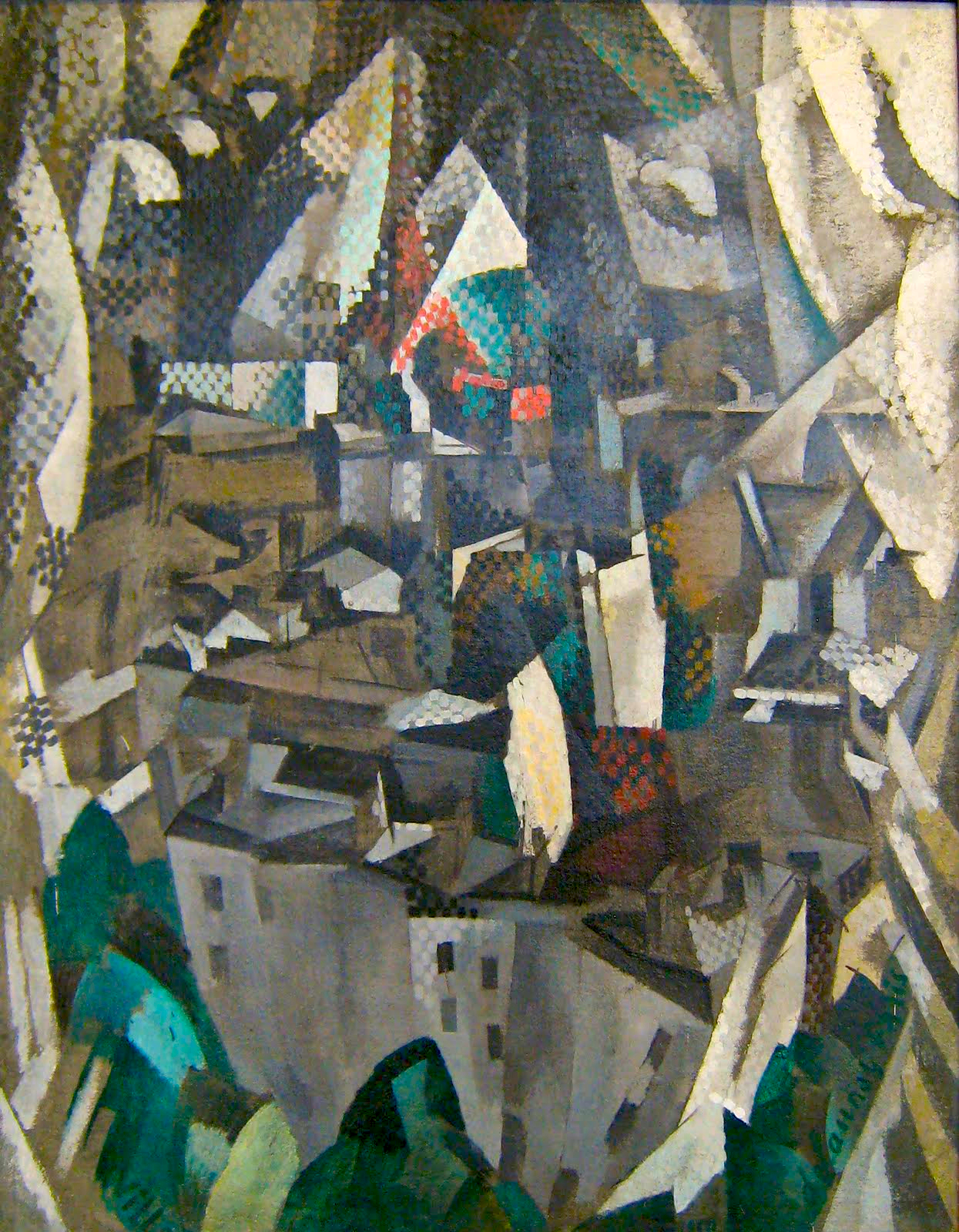 Tableau Moderne Vertical File Robert Delaunay 1910 La Ville No 2 Oil On Canvas 146 X