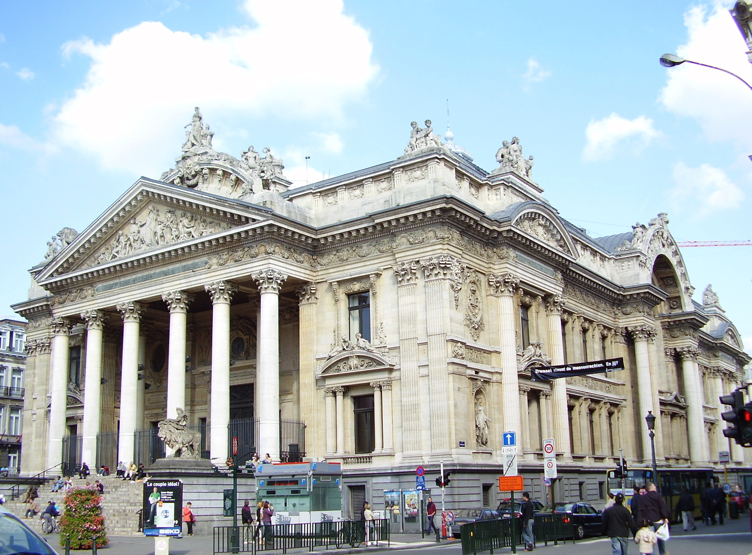Photo Stock Paris Brussels Stock Exchange Wikipedia