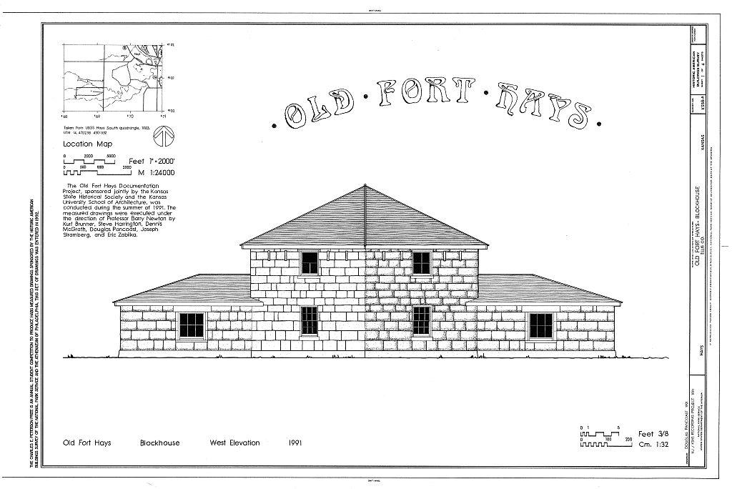 FileOld Fort Hays HABS cover sheet KS1jpg - Wikimedia Commons