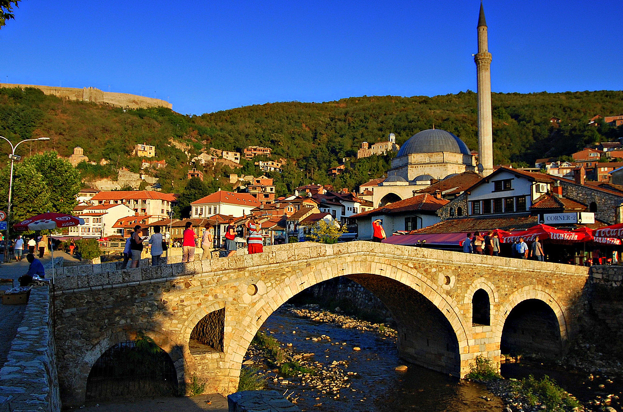 Www Hd Wallpaper Com Nature File Prizren Stone Bridge Sinan Pasha Mosque And City