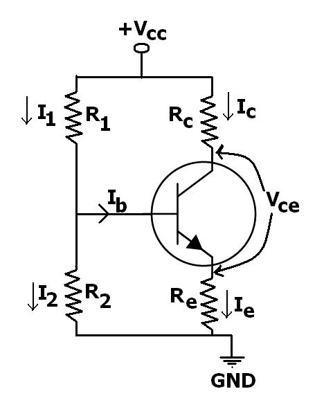 voltage divider bias of a bjt transistor