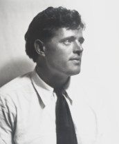 Portrait photograph of Jack London