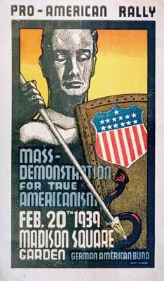 Rally Poster of a German-American Bund Rally a...