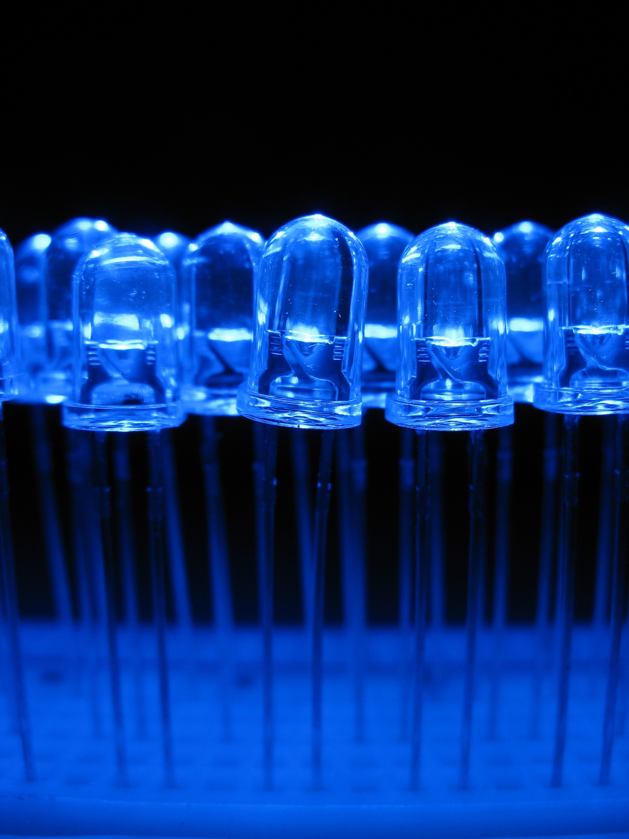 Diode Lighting File Blue Light Emitting Diodes Over A Proto Board Jpg
