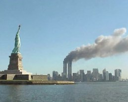 Image:National Park Service 9-11 Statue of Liberty and WTC fire.jpg