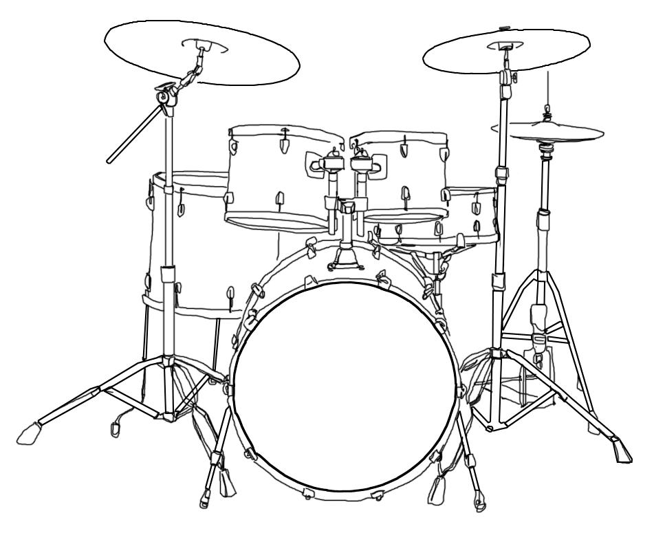 piece drum set diagram the full studio setup for the