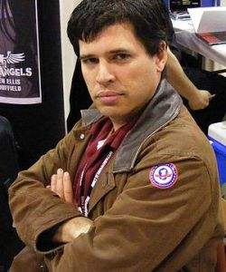 English: Max Brooks shows off his Rocket Llama...