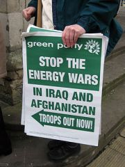 Green party anti-war poster