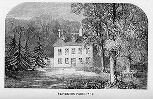 English: Engraving of Steventon rectory, home ...