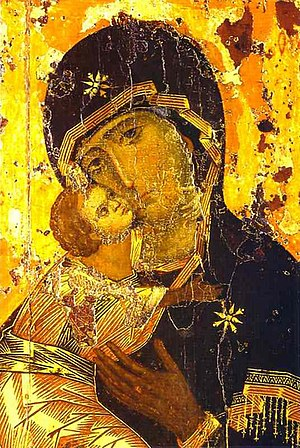 The Theotokos of Vladimir, one of the most ven...