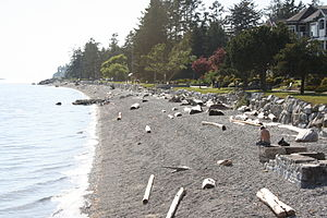 Trail Bay, Sechelt, British Columbia, looking ...