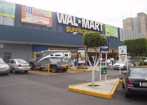 Overview of Wal Mart supercenter -Plateros- St...