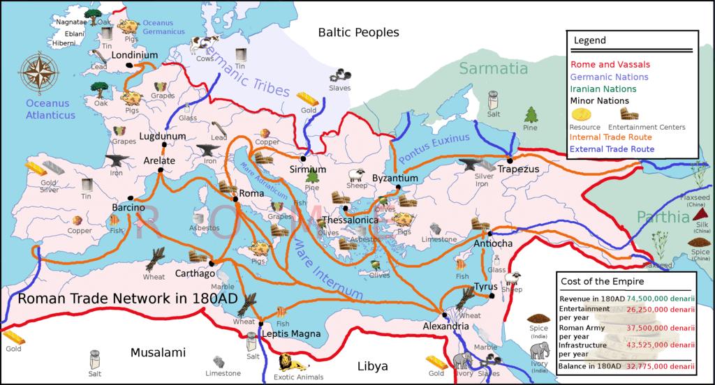 Fileeurope 180ad Roman Trade Mappng Wikimedia Commons