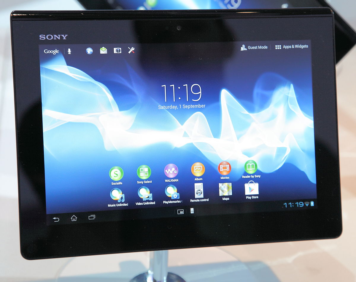 Der Tablet Sony Xperia Tablet S Wikipedia La Enciclopedia Libre