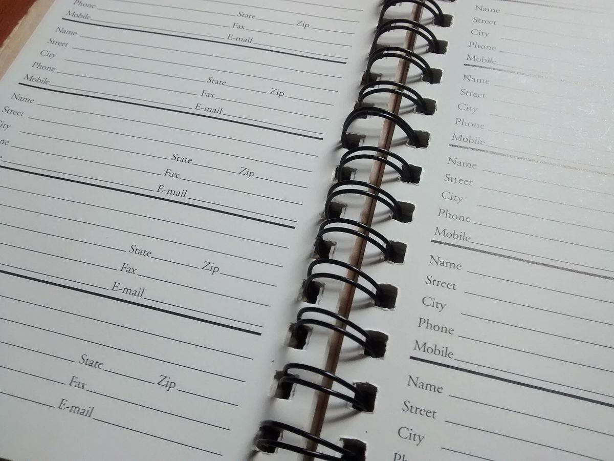 address book database