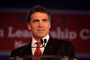 Governor Rick Perry of Texas speaking at the R...