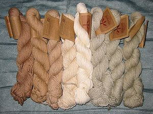 English: Organic cotton yarn.