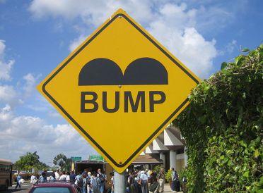 A bump in the blogging road
