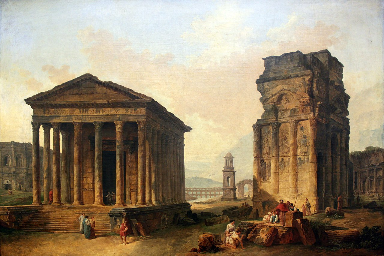 Salon De Provence Nimes File 1789 Robert Ruins Of Nimes Orange And Saint Remy De