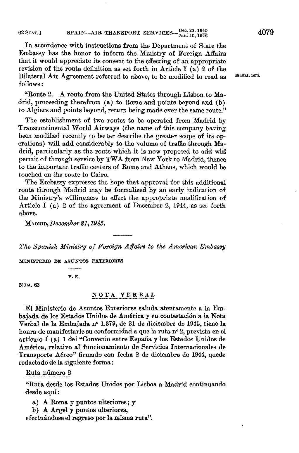 Ministerios De Asuntos Exteriores Page United States Statutes At Large Volume 62 Part 3 Djvu 1458